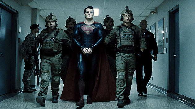 Superman, handcuffed in 'Man of Steel' (Photo: Warner Bros.)