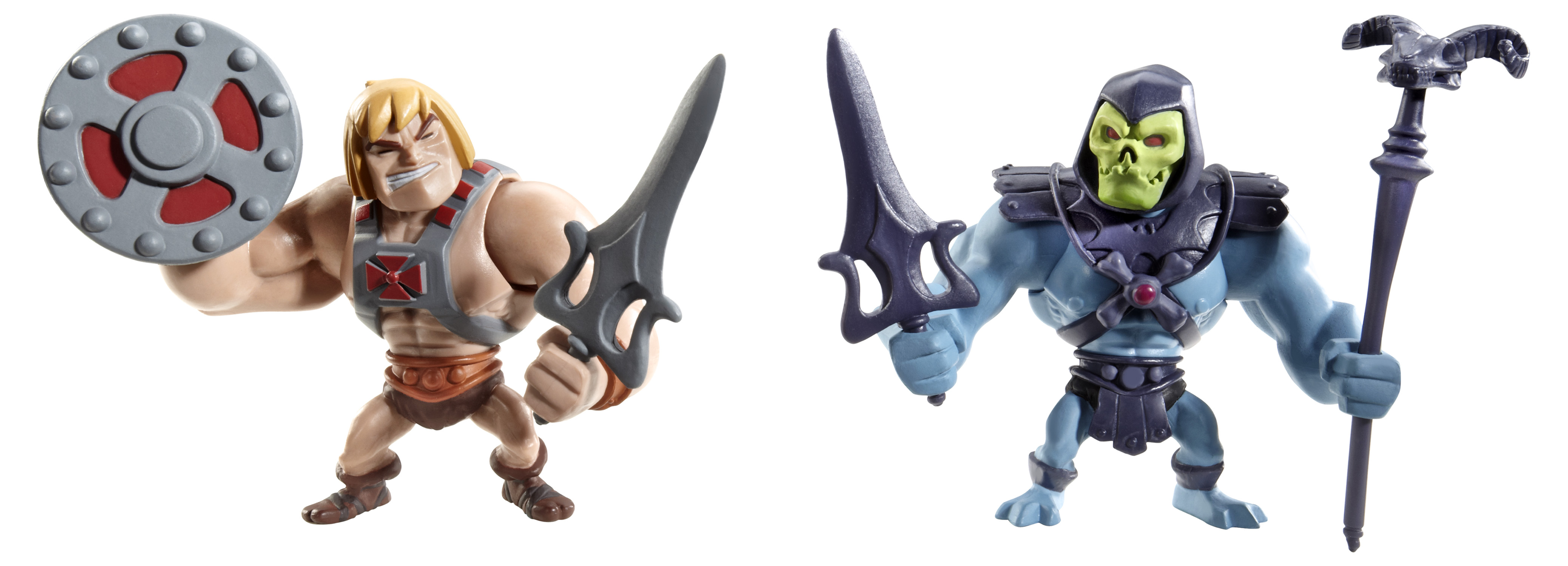 Mattel's Masters of the Universe Classics Mini He-Man & Skeletor Figures.