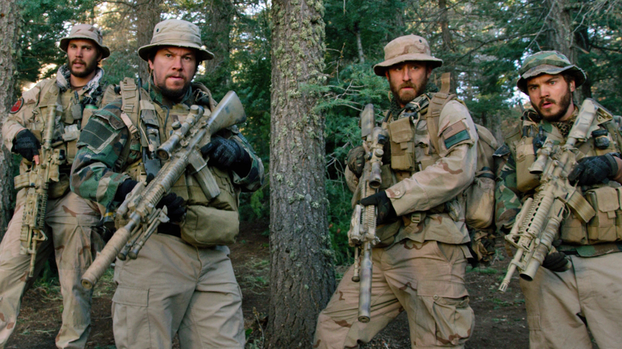 Taylor Kitsch, Mark Wahlberg, Ben Foster and Emile Hirsch in 'Lone Survivor' (Photo: Universal Pictures)