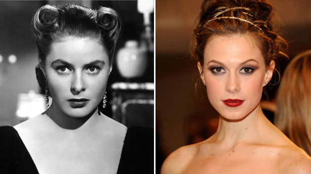 Ingrid Berman in 1946, Elettra Rossellini Wiedemann in 2011 (Photo: Everett Collection, Kevin Mazur/WireImage)