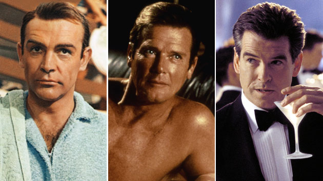Sean Connery, Roger Moore, and Pierce Brosnan as 007 (Photo: United Artists/Everett Collection)