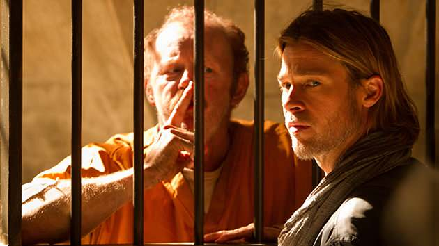 Brad Pitt & David Morse in Paramount Pictures' 'World War Z'.