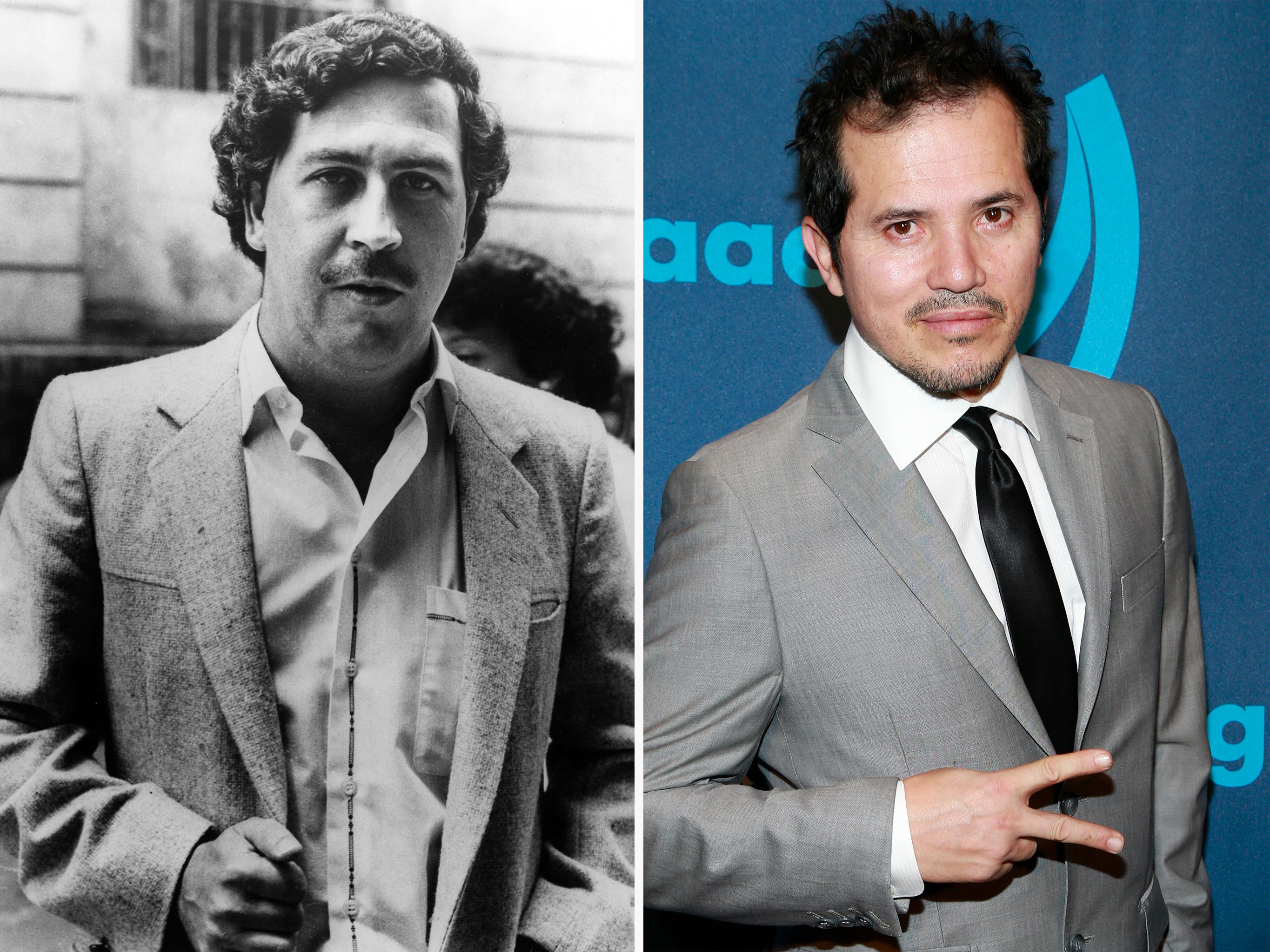 Pablo Escobar & John Leguizamo. Photos by ©AP Photo & WireImage.