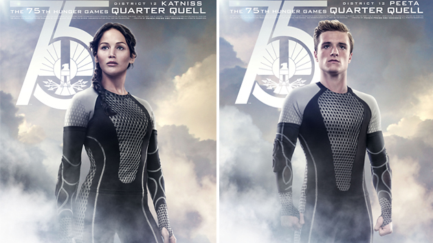 Jennifer Lawrence and Josh Hutcherson in Lionsgate's 'The Hunger Games: Catching Fire'