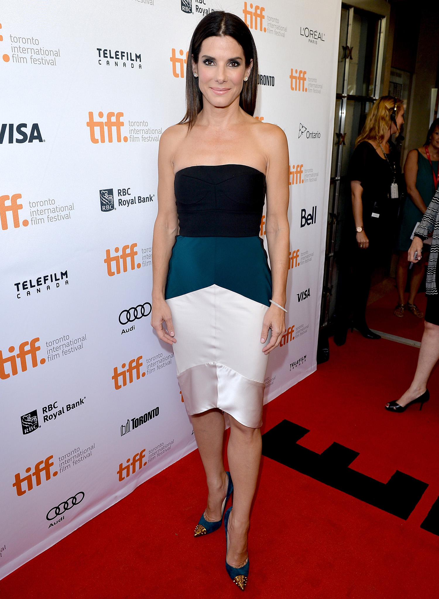 Sandra Bullock at TIFF. (George Pimentel/WireImage)