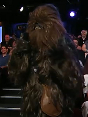 Chewbacca on 'Jimmy Kimmel Live' (Photo: From ABC)