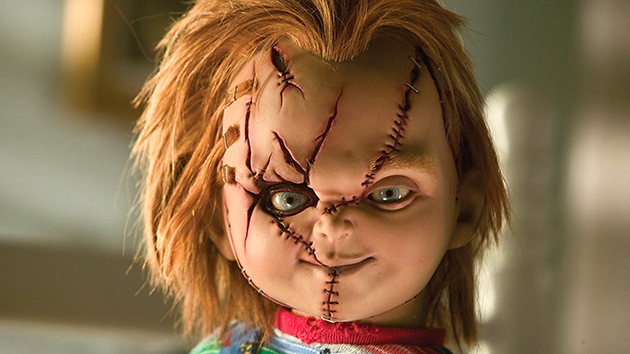 Chucky's face has seen better days. (Photo credit: Universal)