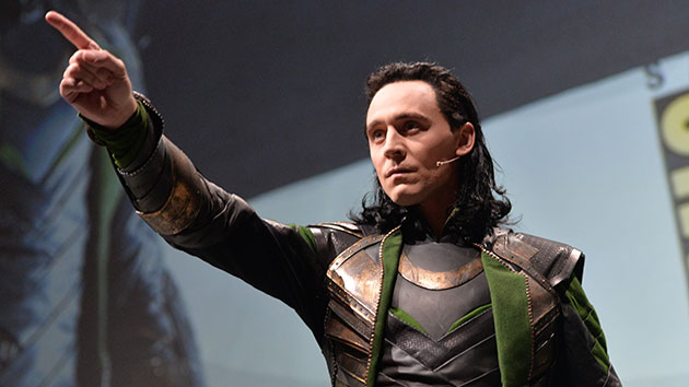 Tom Hiddleston as Loki at San Diego Comic-Con (Photo: Alberto E. Rodriguez/WireImage)