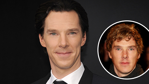Guess which one is Benedict Cumberbatch's natural hair color (Photo: WireImage)