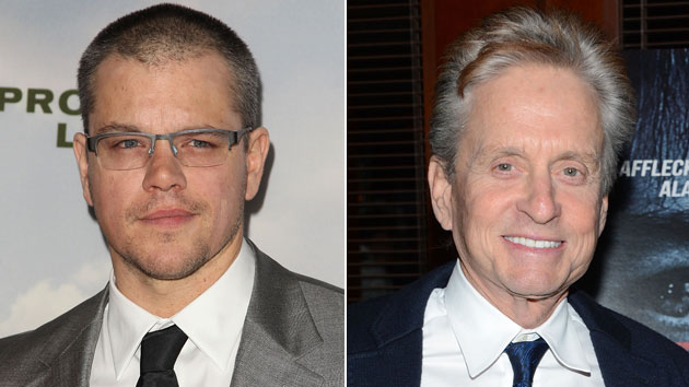 Matt Damon and Michael Douglas (Photo: Paul A. Hebert/Jason Kempin/Getty Images)