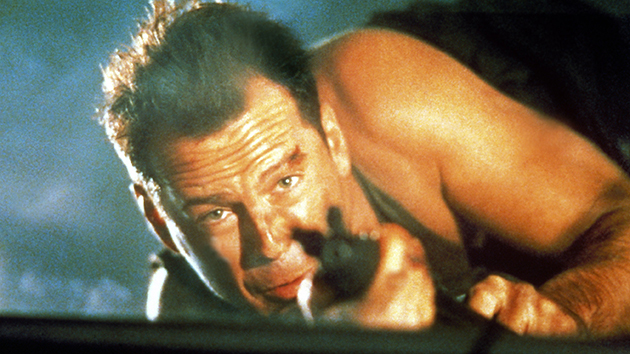 Bruce Willis in his star-making role in 'Die Hard' (Photo Credit: Everett)