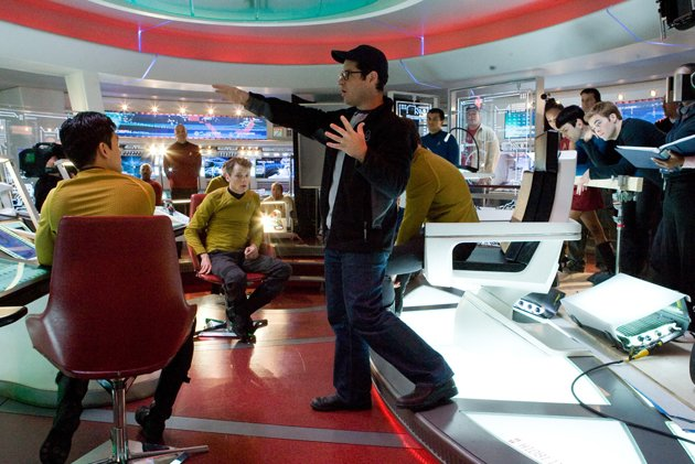 J.J. Abrams, center, on the set of 2009's 'Star Trek' (Photo: Paramount Pictures)