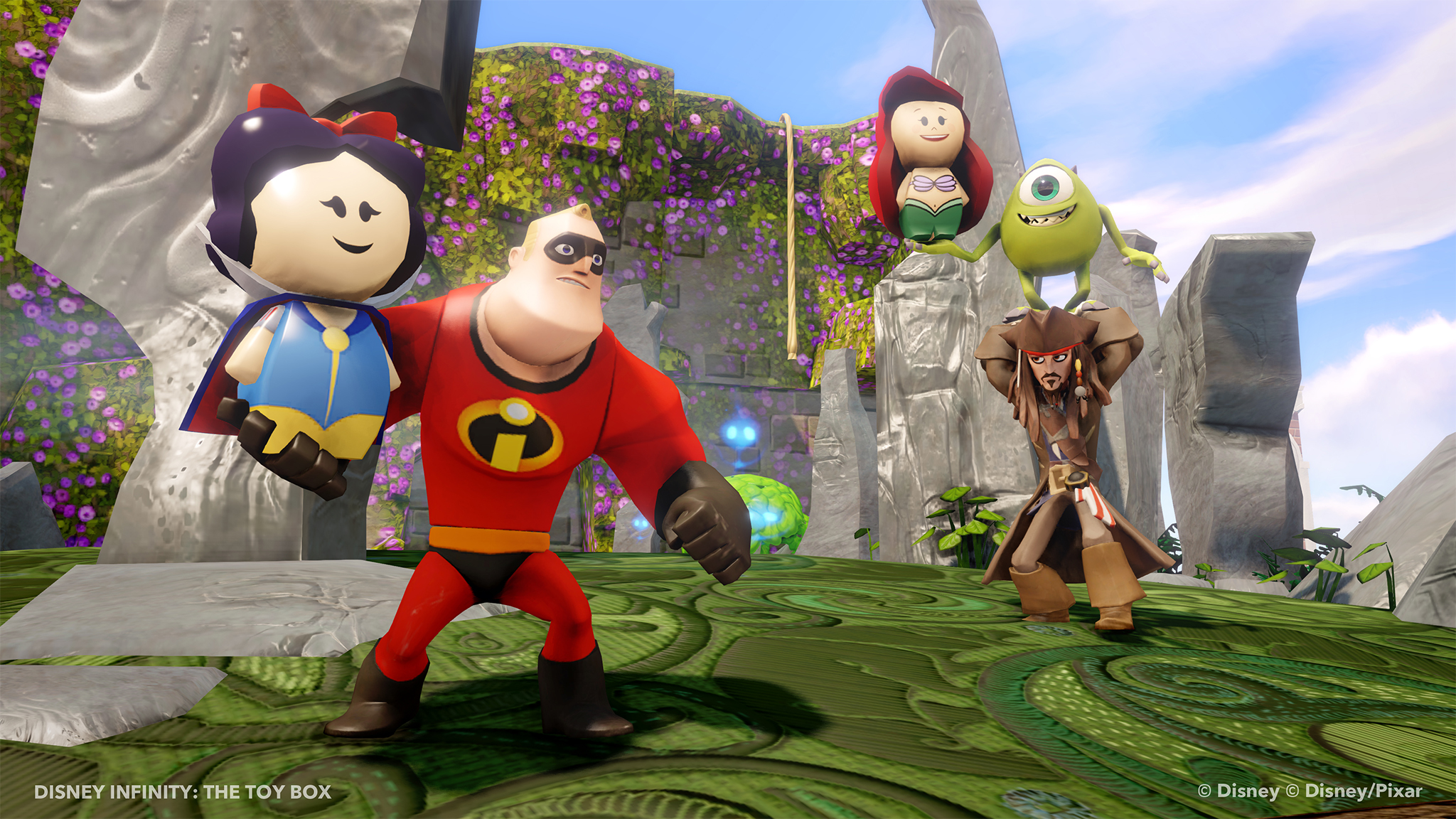 Disney and Pixar worlds collide in Disney Infinity. (Photo: Courtesy of Disney Interactive)
