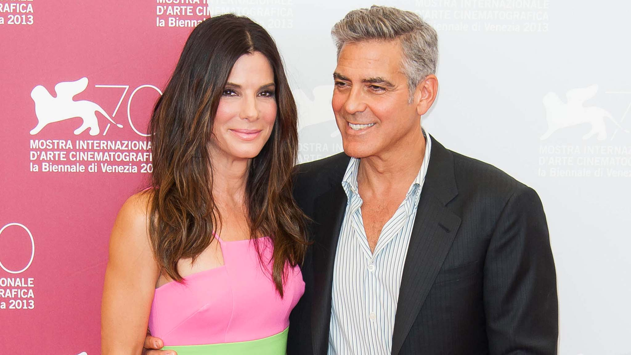 Sandra Bullock and George Clooney at the Venice Film Festival in late August (Photo: Startraks)
