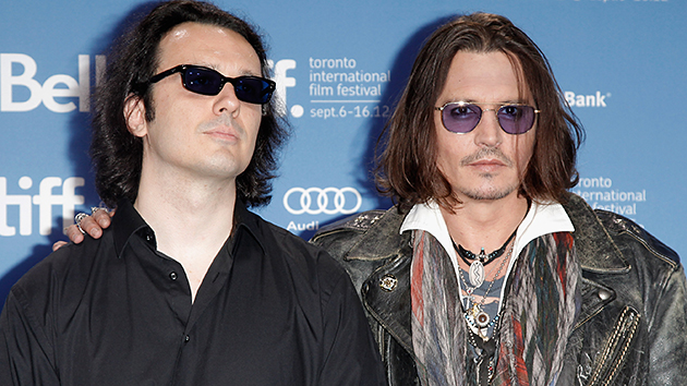 Tattoo besties: Freed prisoner Damien Echols, left, and Johnny Depp (George Pimentel/WireImage)