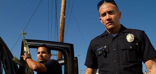 Michael Pena and Jake Gyllenhaal in 'End of Watch' (Photo: Open Road Films)