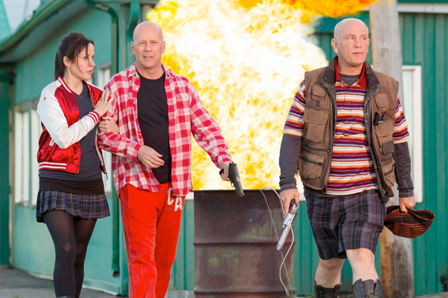 Mary-Louise Parker, Bruce Willis, and John Malkovich in 'Red 2' (Summit Entertainment)