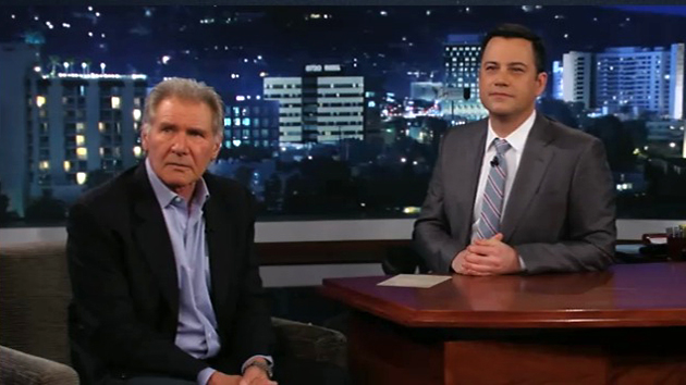 Things got confrontational when Harrison Ford went on Jimmy Kimmel Wednesday night (Photo: From ABC)