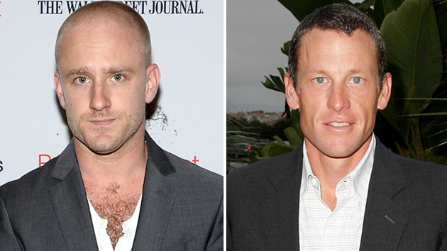 Ben Foster and Lance Armstrong. Photos courtesy of Getty Images.