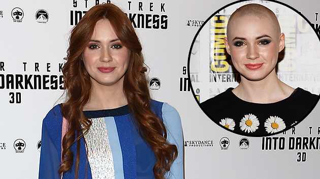 Karen Gillan on May 2, 2013, and on July 20, 2013. Photos courtesy of Getty.