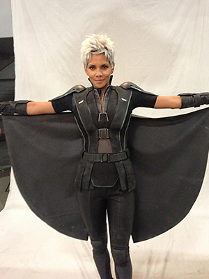 Halle Berry in her 'X-Men: Days of Future Past' costume (Photo: @BryanSinger/Twitter)