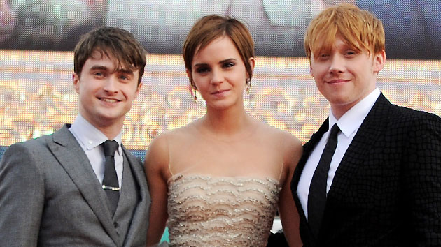 Daniel Radcliffe, Emma Watson and Rupert Grint (Photo: Dave M. Benett/Getty Images)