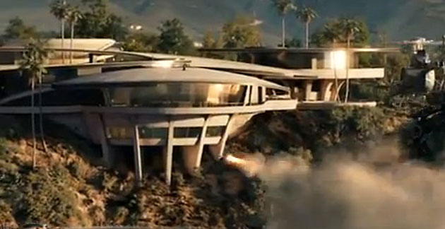 Tony Stark's mansion is under attack in 'Iron Man 3' (Photo: Marvel Studios)