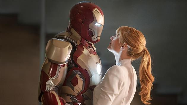 Robert Downey Jr. and Gwyneth Paltrow in Marvel Studios' 'Iron Man 3'