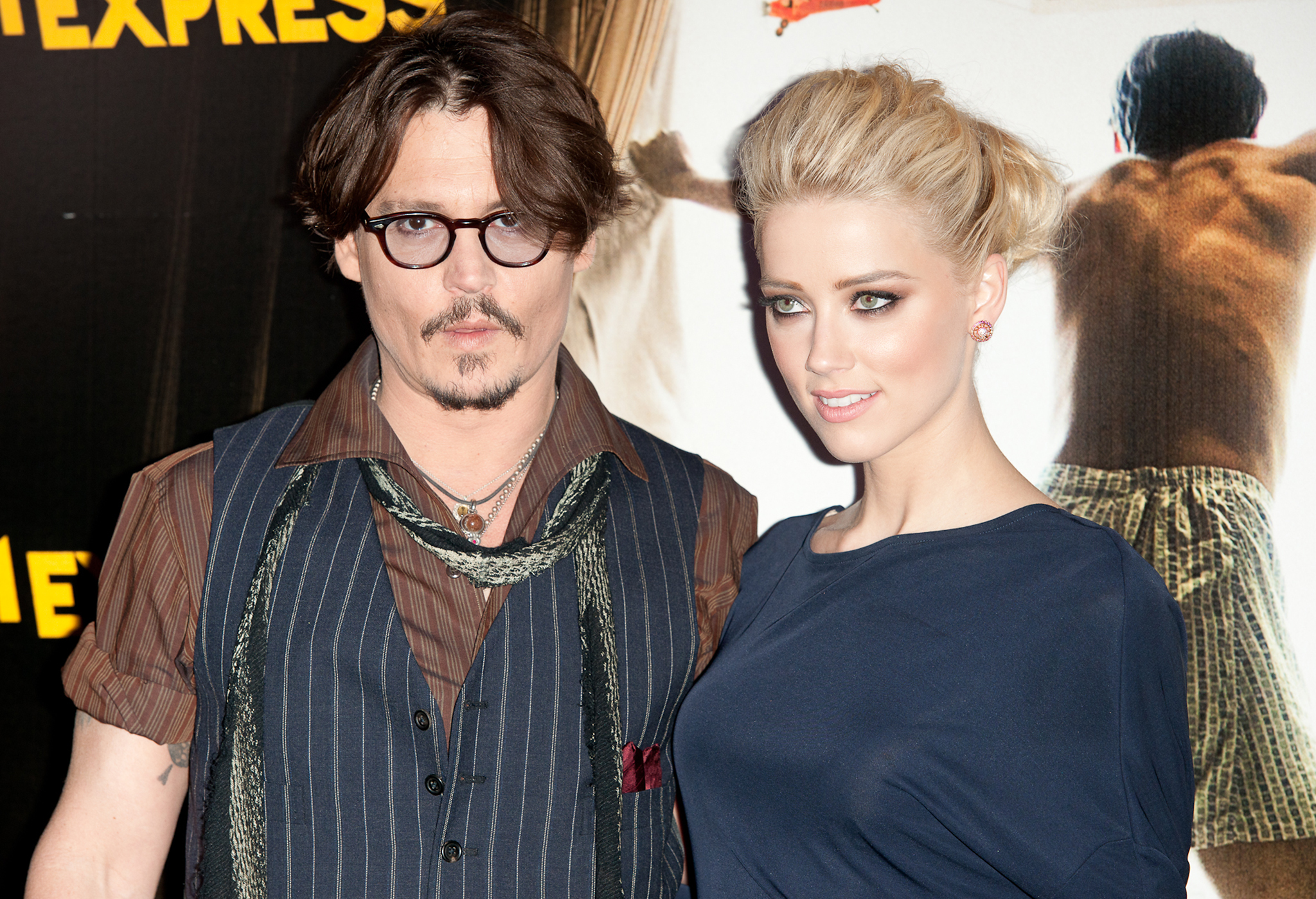 Johnny Depp and Amber Heard back where it all started, at a 'Rum Diary' premiere in 2011 (WireImage)