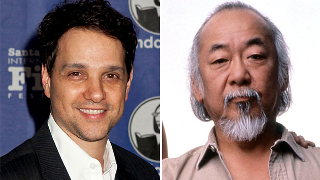 Ralph Macchio; Pat Morita as Mr. Miyagi in 'The Karate Kid' (Photo: Getty Images/Everett Collection)