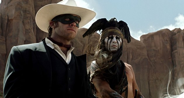 Armie Hammer & Johnny Depp in Walt Disney Pictures' 'The Lone Ranger'