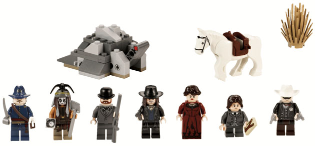 Seven 'Lone Ranger' minifigures are included in the set (Photo: LEGO)