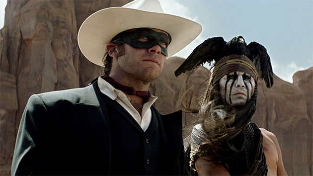 Armie Hammer and Johnny Depp in 'The Lone Ranger' (Photo: Walt Disney Pictures)