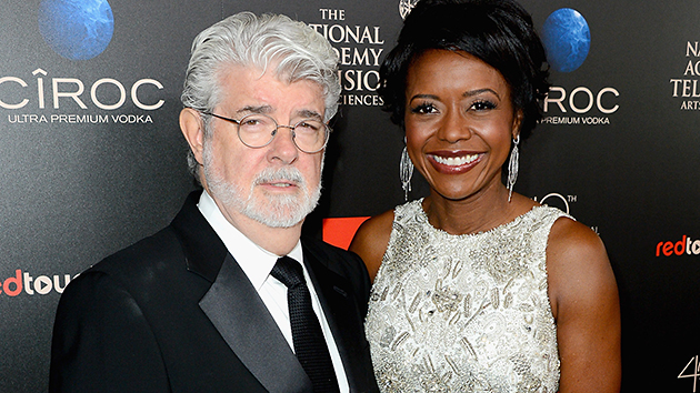 George Lucas, 69, and Mellody Hobson, 44 (Mark Davis/Getty)