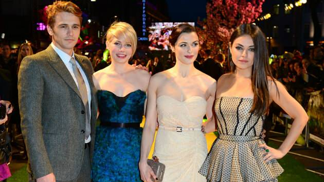 James Franco, Michelle Williams, Rachel Weisz & Mila Kunis. Photo Courtesy of AP.