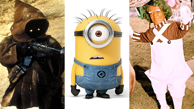 Jawas, minions, and Oompa Loompas -- Oh my! Photos courtesy of Universal Pictures and Everett Collections.