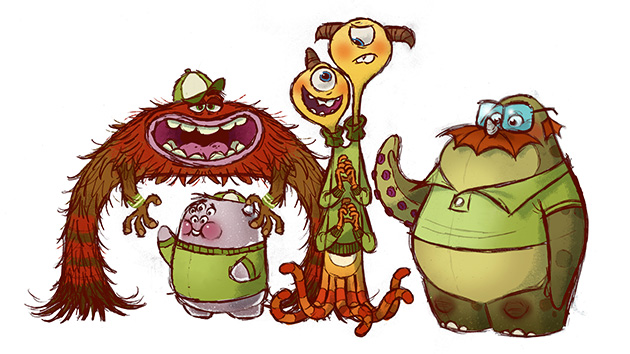 'Monsters University' concept art (Photo: Pixar)