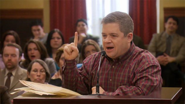 Patton Oswalt on NBC's 'Parks and Recreation' (Photo: NBC)