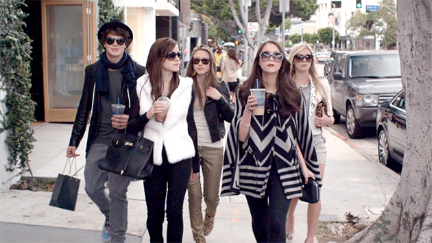 Emma Watson, second from left, in 'The Bling Ring' (Photo: A24)