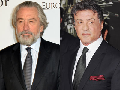 De Niro, left, and Stallone (Photo: Foc Kan/WireImage, Jon Kopaloff/FilmMagic)