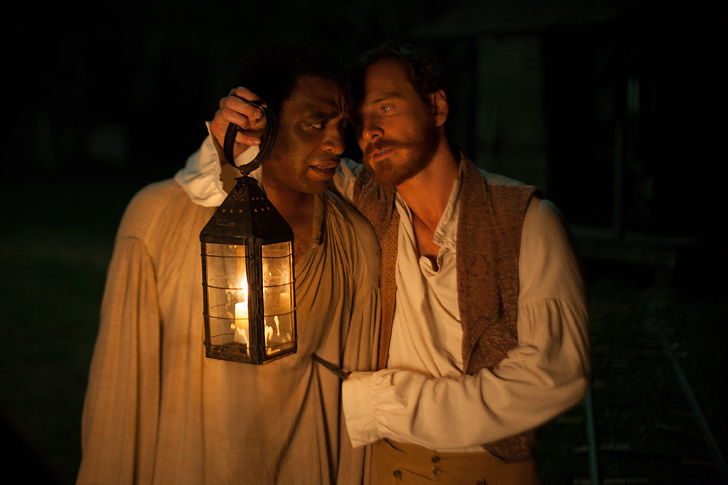 Chiwetel Ejiofor and Michael Fassbender in Fox Searchlight's '12 Years A Slave'.