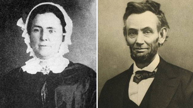 Mary Owens, left, and Lincoln (Photo Courtesy of Illinois State Historical Society/ Corbis)