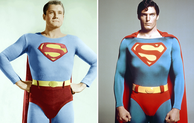 George Reeves and Christopher Reeve (Photo: Everett Collection/Warner Bros. Pictures)