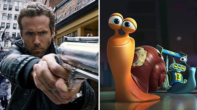 Ryan Reynolds's double flop: as Nick in 'R.I.P.D.' and as Turbo (Photo: Universal/Dreamworks)
