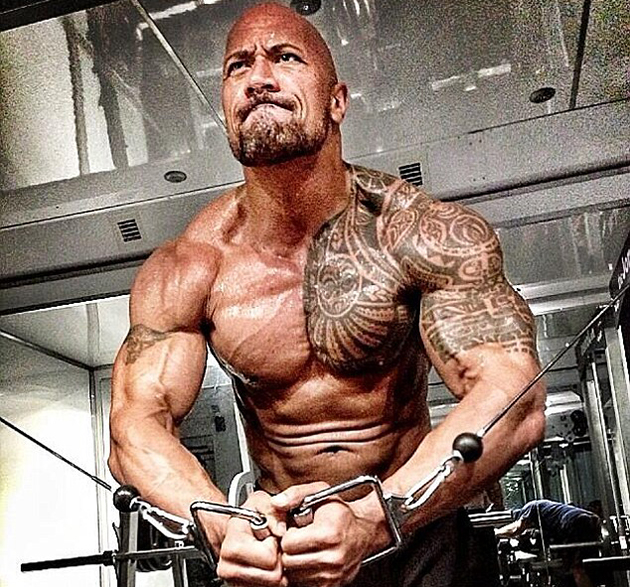 Dwayne 'The Rock' Johnson works out for 'Hercules: The Thracian Wars' (Photo: Dwayne Johnson/Twitter)