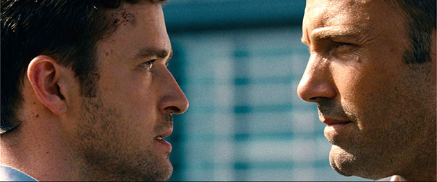 Justin Timberlake and Ben Affleck in 20th Century Fox's 'Runner Runner'