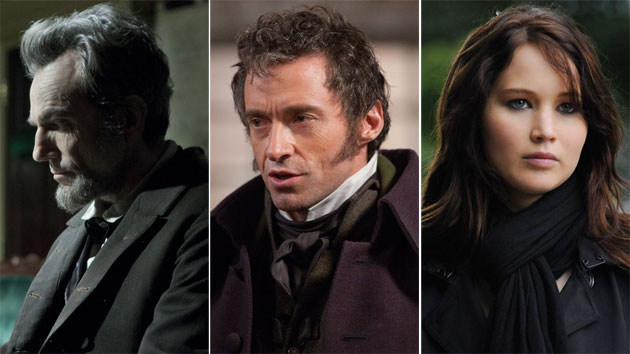 SAG Award nominees 'Lincoln,' 'Les Miserables' & 'Silver Linings Playbook' (Photo: DreamWorks/Universal/TWC)