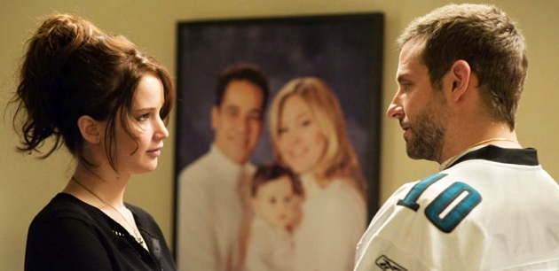 Jennifer Lawrence & Bradley Cooper in 'Silver Linings Playbook'. Photo by The Weinstein Co.