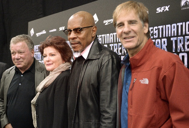 William Shatner, Kate Mulgrew, Avery Brooks, Scott Bakula. Photo by Martin McNeil/WireImage