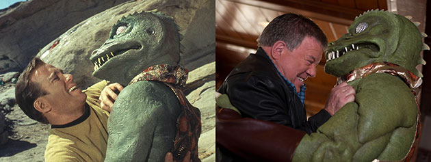 William Shatner vs. the Gorn: Then and Now (Photo: Paramount Pictures)